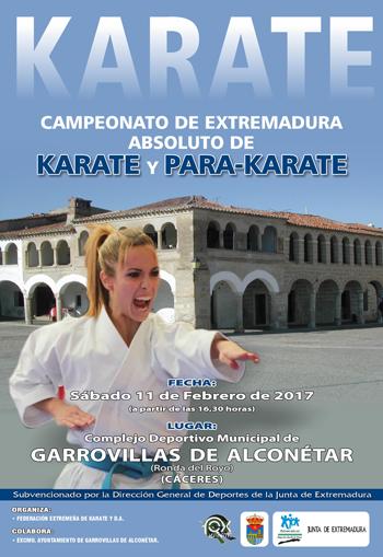 Cartel Garrovillas de Alconetar Absoluto FEB 2017