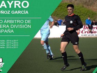 El árbitro Jayro Muñoz García asciende a Tercera División de España