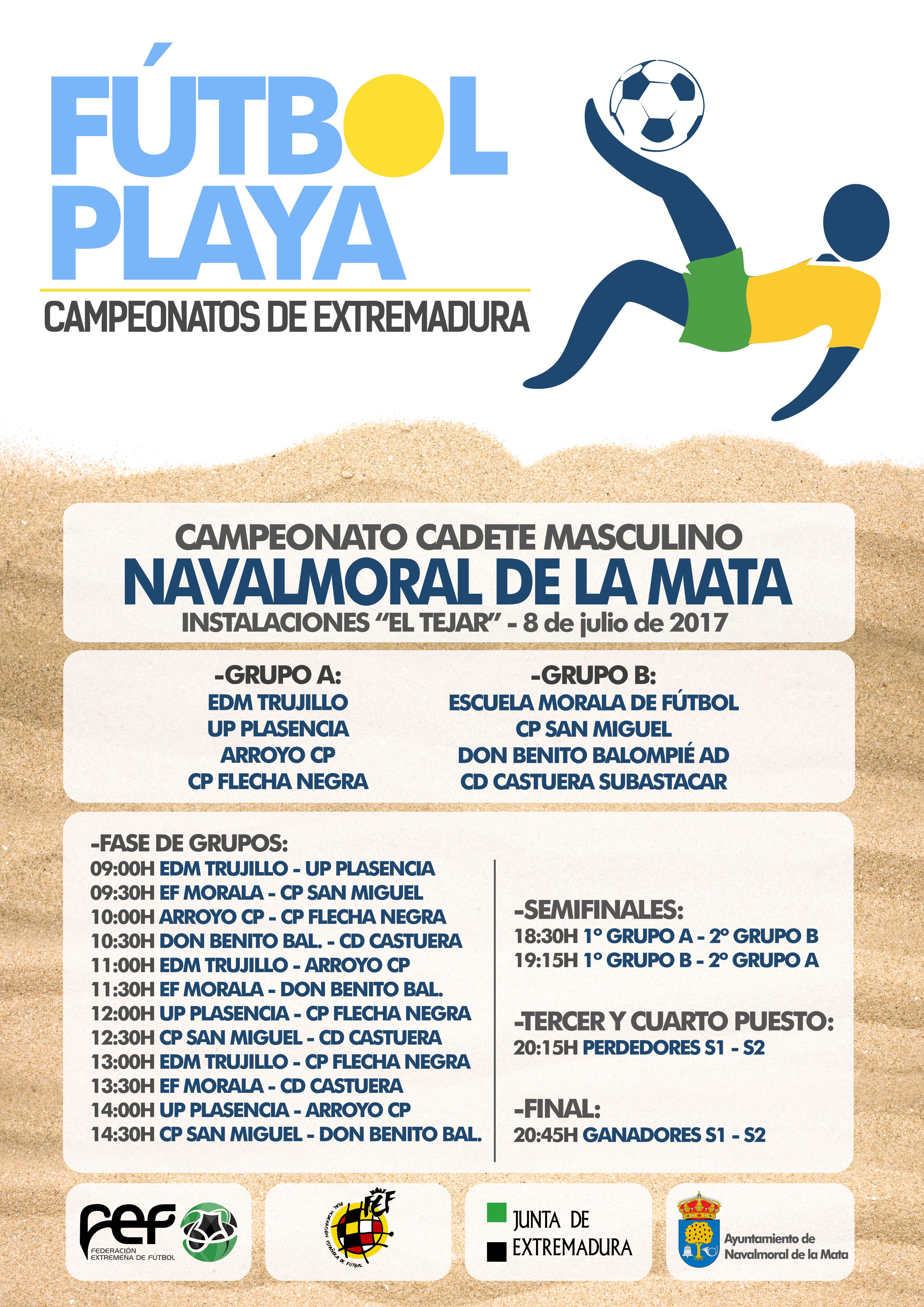 Campeonato Fútbol Playa Cadete Navalmoral de la Mata