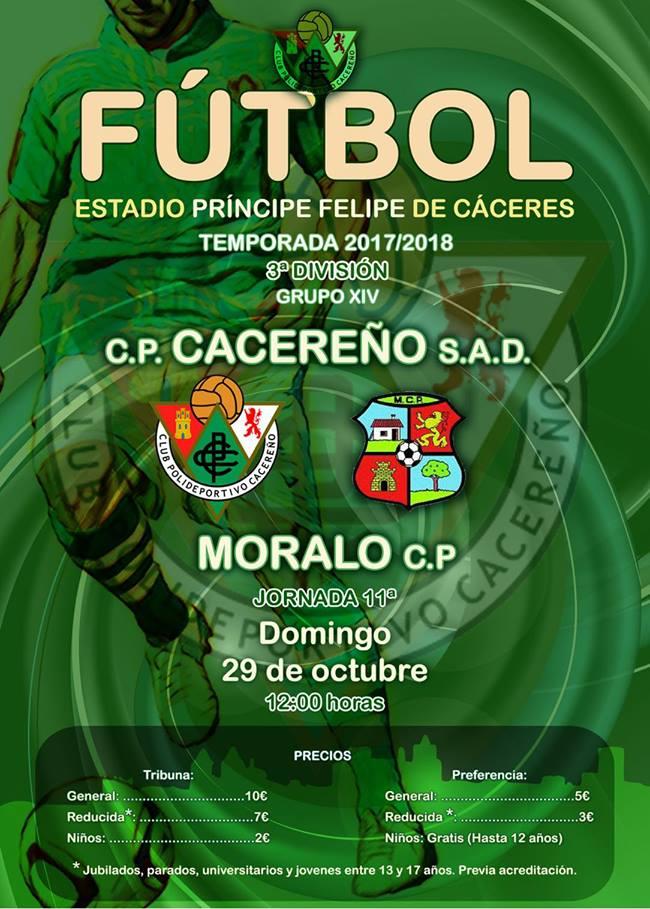 Previa CP Cacereño vs Moralo CP - Estadio Príncipe Felipe de Cáceres