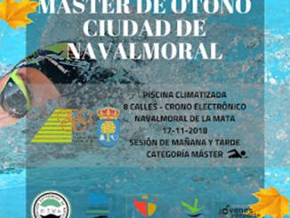 El Club Natación Moralo organiza el V Trofeo Open Máster de otoño Ciudad de Navalmoral