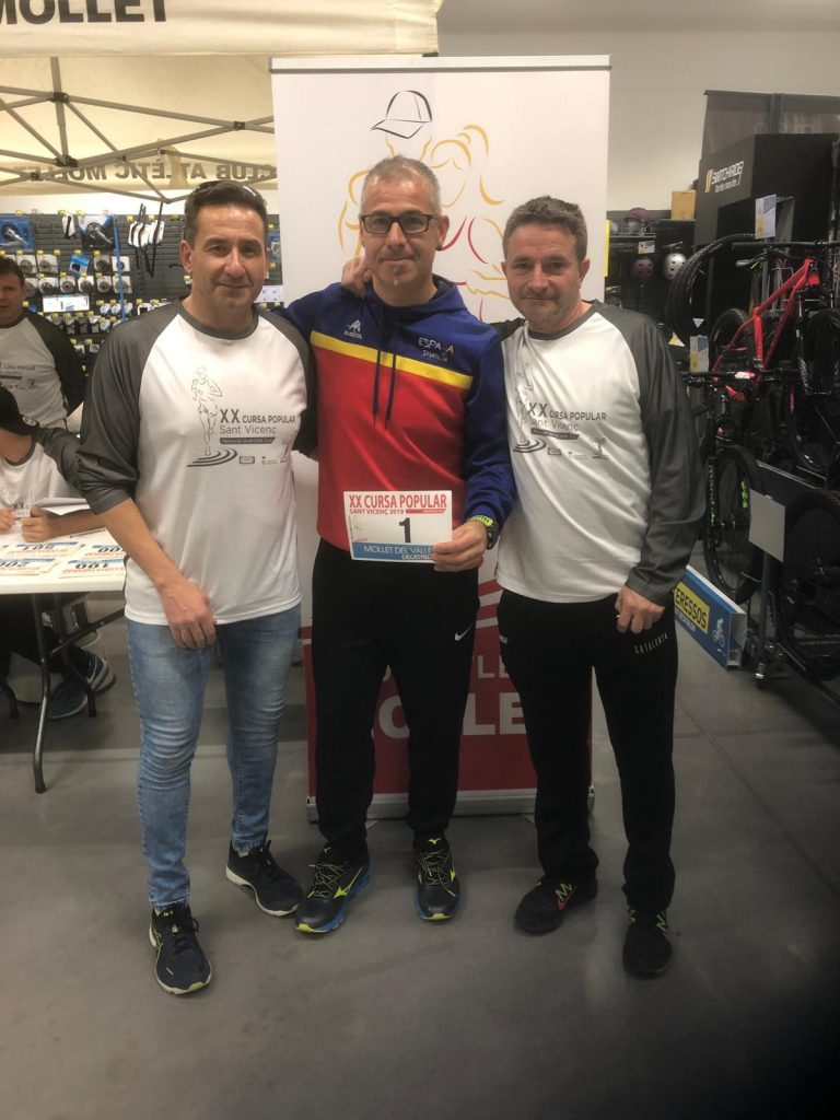 Toni Franco recibirá mañana un reconocimiento en la XX Carrera popular Sant Vicenç 2019 de Mollet del Vallés