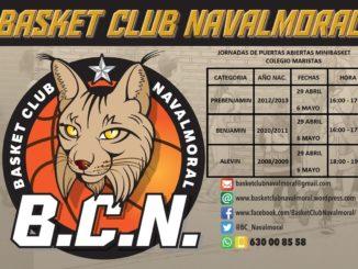 Jornadas de puertas abiertas para las categorías infantil, cadete y junior del Basket Club Navalmoral