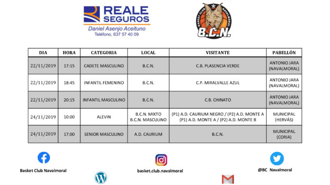 Jornada 22-23-24 Noviembre del Basket Club Navalmoral