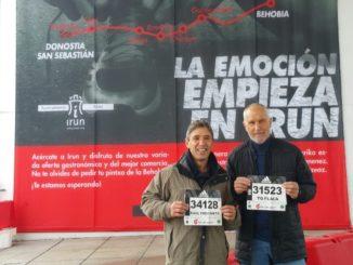Javier Rodríguez y Raúl Fernández corrieron la Behobia-San Sebastián 2019