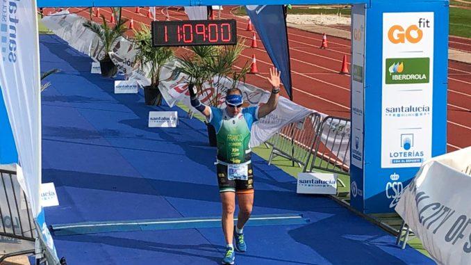 Toni Franco Campeón de España de Duatlón Sprint en PTS5 en Soria 2020